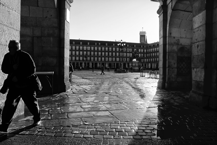 Madrid - Plaza Mayor 05-02-2017 #-19 N&B
